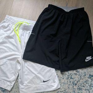 2 Nike Basketball Shorts- Women's size M